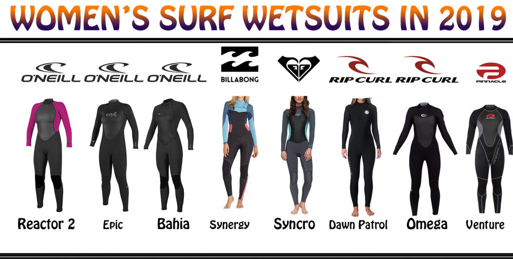Womens surfing wetsuits 2019