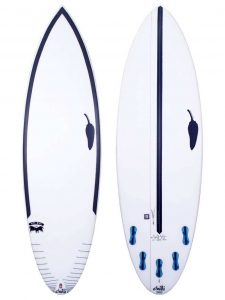 chilli performance shortboard for surfing, top and bottom