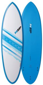 hybrid surfboard top and bottom