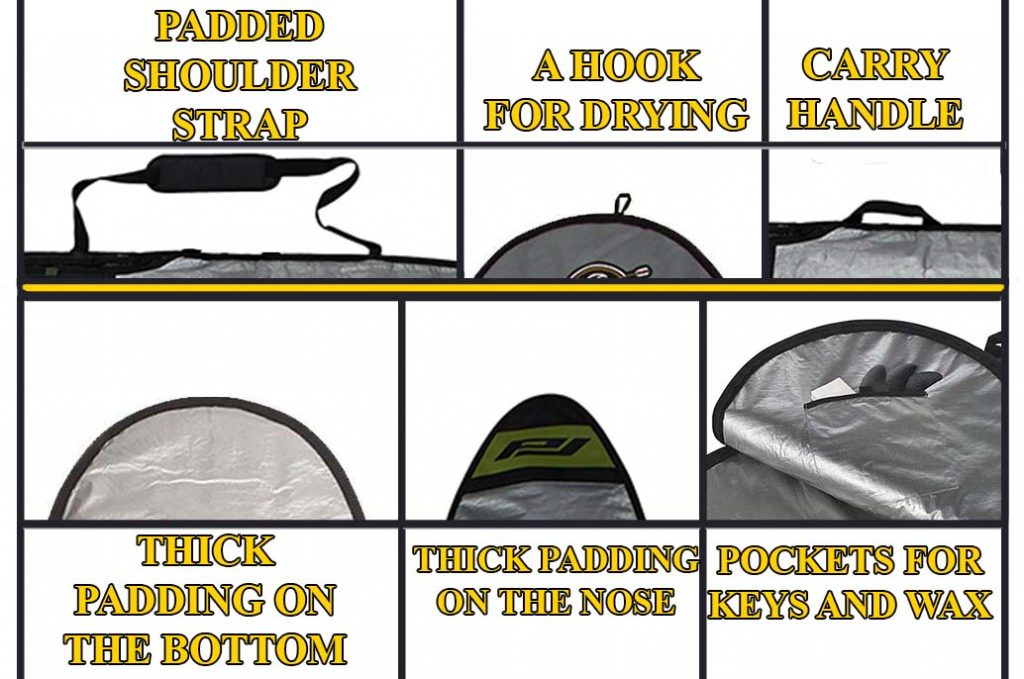 surfboard bag features