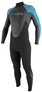 o'neill black and blue wetsuit