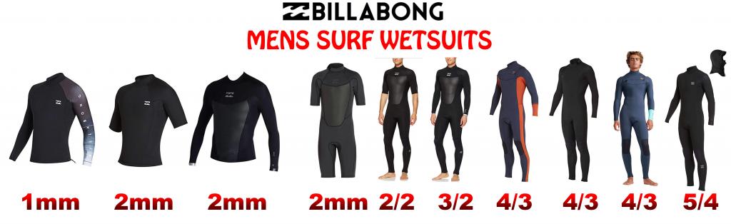 Billabong Mens Wetsuit lineup