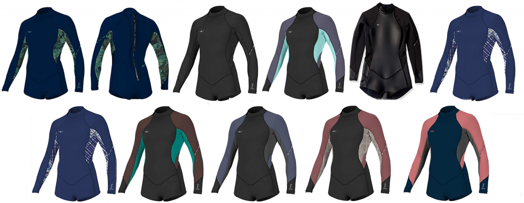wetsuit tops for females
