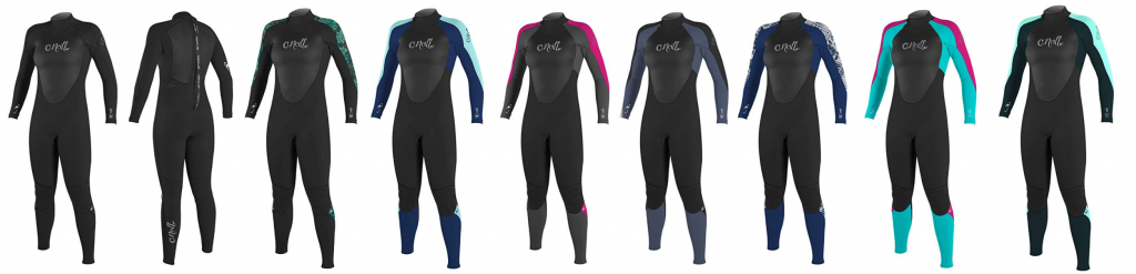 list of womens wetsuits by o'neill