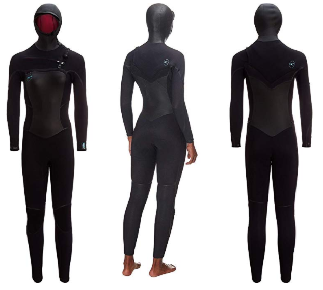 premium womens hooded surf wetsuit