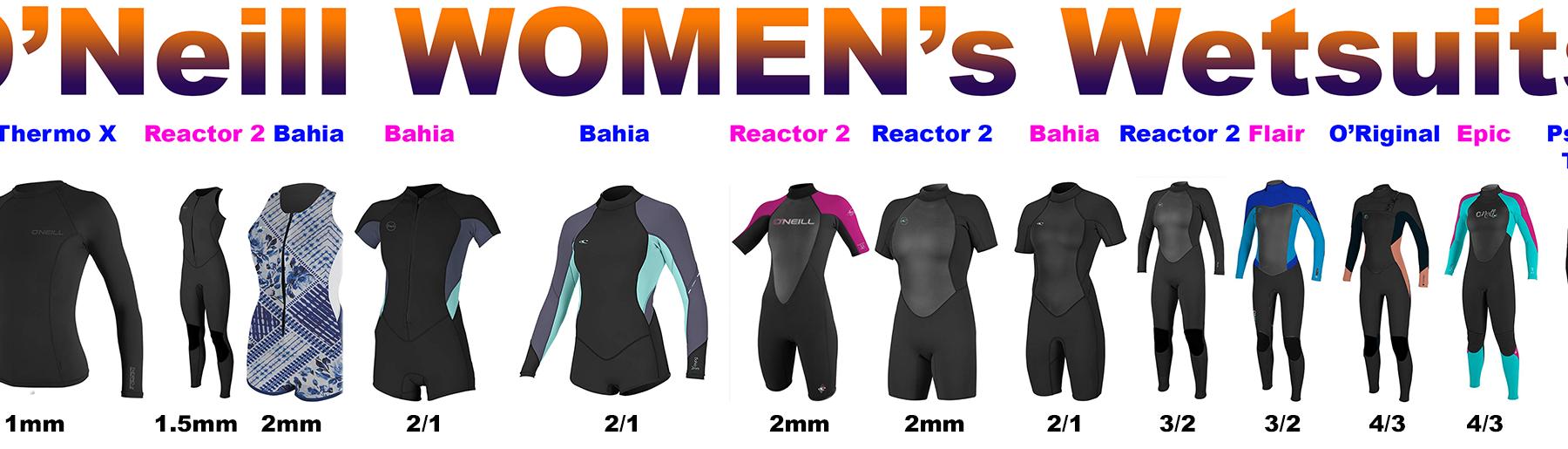 O'Neill Women's Surf Wetsuits