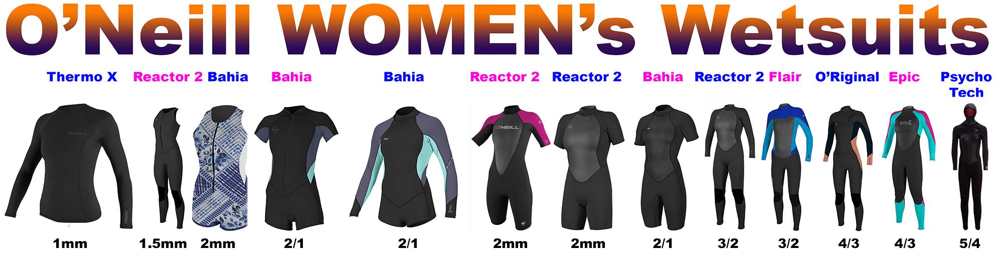 o'neill women surf wetsuits
