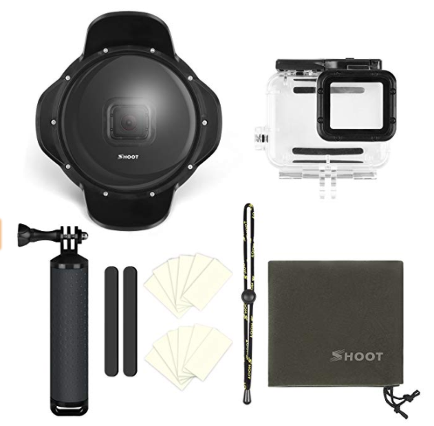 shoot gopro dome with accessories