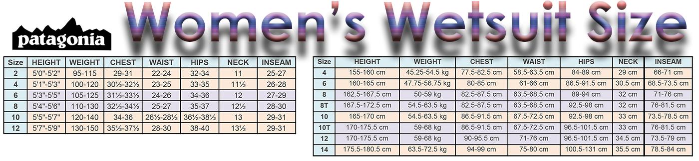 patagonia women's wetsuit size