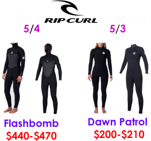 rip curl womens surf wetsuits