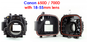canon 650d camera housing