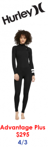 hurley womens surf wetsuit