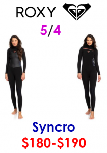 roxy womens surf wetsuits 5/4