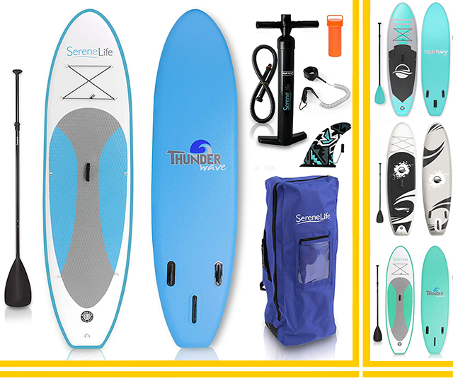 serenelife complete inflatable paddleboard package