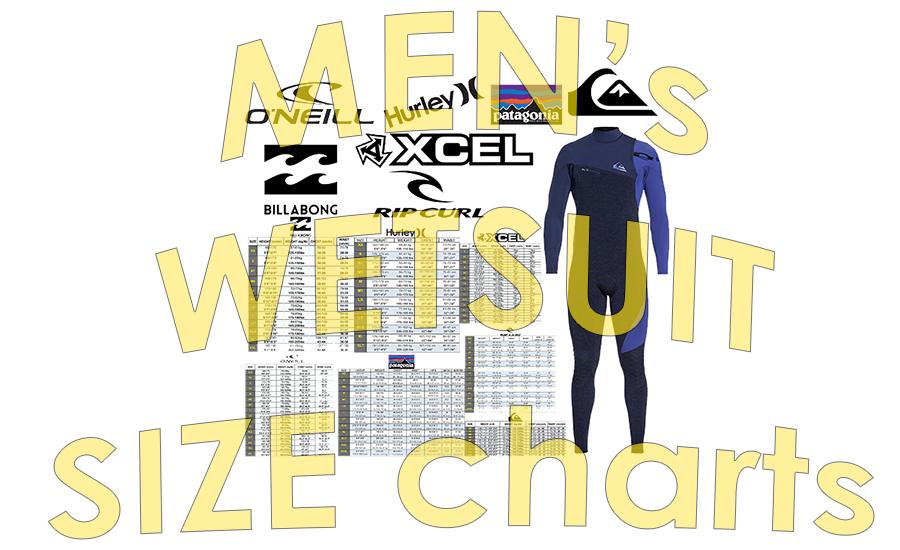 Wetsuit Size Charts – Men's