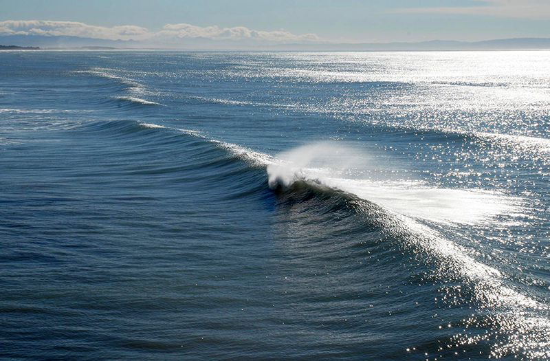 a perfect wave for surfing
