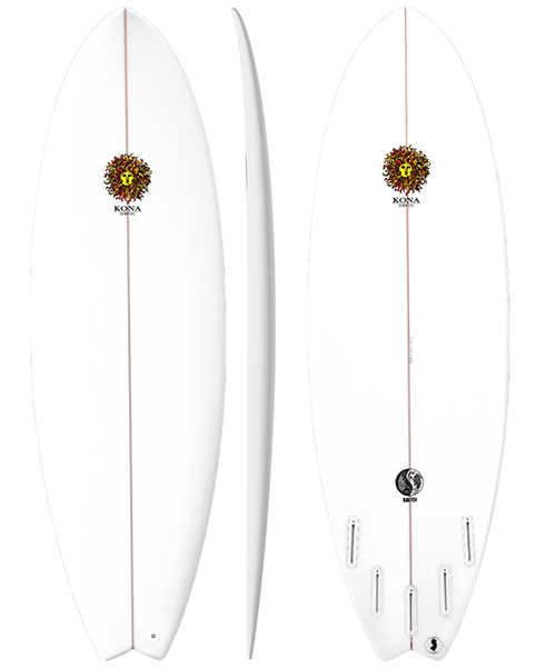 kona fish surfboard