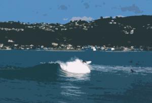 longboarder drawing