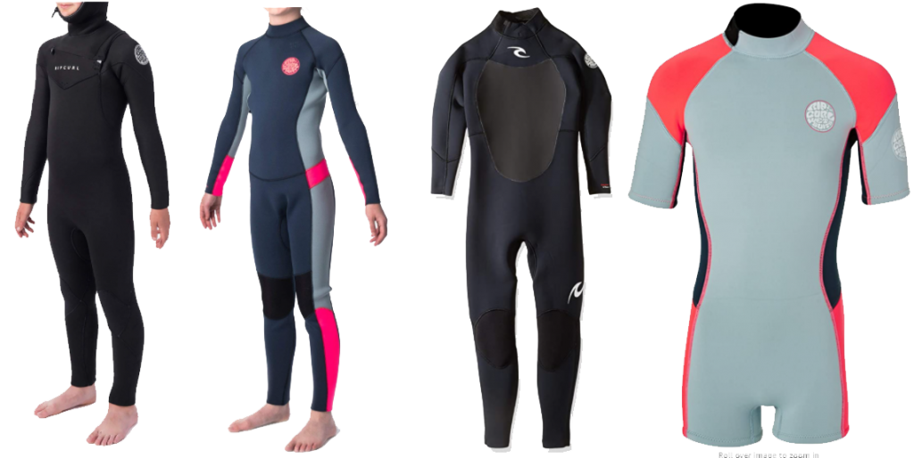 rip curl dawn patrol youths wetsuit models