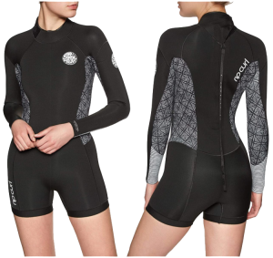 rip curl dawn patrol womens long sleeve shorty wetsuit