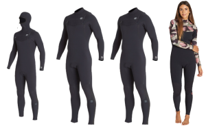 billabong furnace comp wetsuits