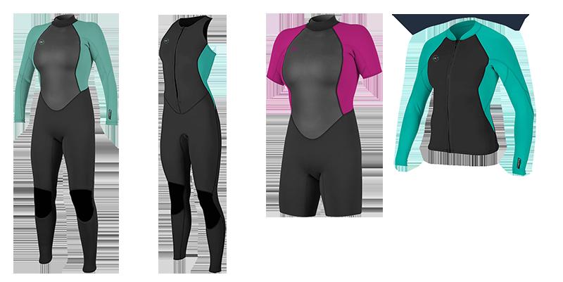 o'neill womens reactor 2 wetsuit models