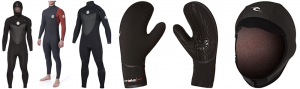 rip curl flashbomb whole series wetsuits, gloves and hood