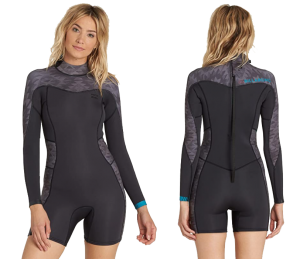 billabong synergy long sleeve shorty wetsuit