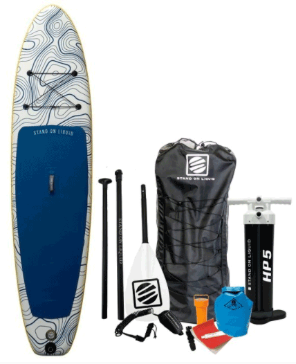 Caspian air stand up paddle board package