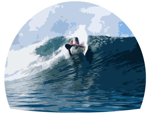 surfer surfing a wave illustration