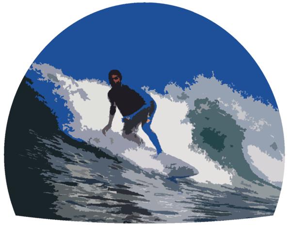 surfer surfing illustration
